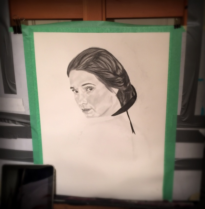 The drawing is still in progress, but I know I am heading where I want to!
