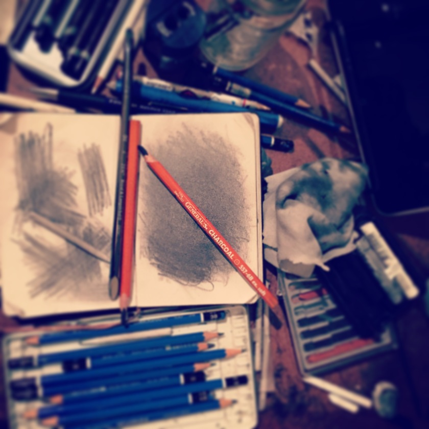 It can easily get messy when I'm drawing!