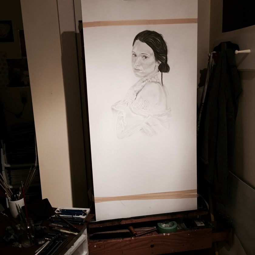 Here is the finished drawing. I can now start to paint.